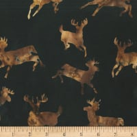 Anthology Batiks Novelty Northwoods Moose Brown