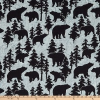 Anthology Batiks Novelty Northwoods Bears Charcoal