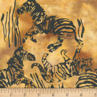 Anthology Batiks Fabrics Novelty Safari Safari Stripe Gold