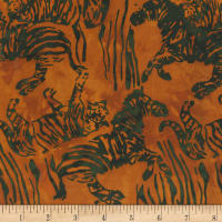 Anthology Batiks Novelty Safari Safari Stripe Copper