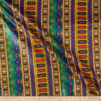 Supreme Fancy African Print Broadcloth 6 Yards Kente Multi