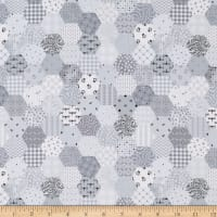 Fade In Tiny Hexies Light Grey