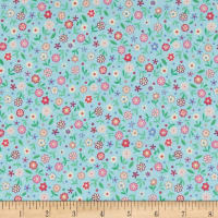 Prettiful Posies Emma Print Light Blue