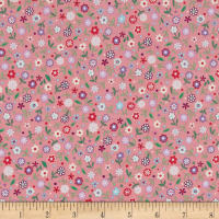 Prettiful Posies Emma Print Dark Rose