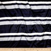 Stripe Satin Midnight Navy/Gray/White