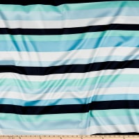 Stripe Satin Navy/Sky Blue/Aqua/White