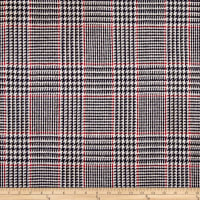Glen Plaid Coating Black/White/red