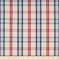 Cotton Plaid Shirting Cream/Red/Blue/Navy