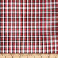 Small Plaid Shirting White/Red/Black/Green