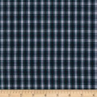 Small Plaid Shirting White/Blue/Green