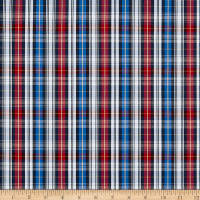 Small Plaid Shirting Red/Blue/White