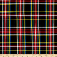 Tartan Plaid Shirting Black/Red/Green/Blue/Yellow
