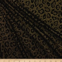 Liverpool Double Knit Leopard Print Black/Metallic Gold