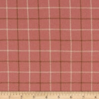 Chalk & Timber Brushed Flannel Yarn Dye Windowpane Plaid Pink