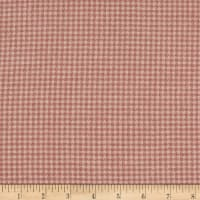 Chalk & Timber Brushed Flannel Yarn Dye Houndstooth Plaid Pink