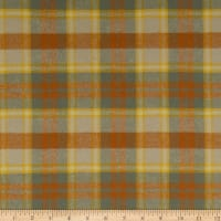 Tape Measure Brushed Flanel Yarn Dye Large Plaid Gold/Rust