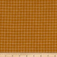 Tape Measure Brushed Flanel Yarn Dye Small Plaid Rust
