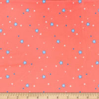 Michael Miller Minky Flight School Sprinkled Stars Coral