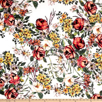 Liverpool Double Knit Floral Garden Ivory/Blush
