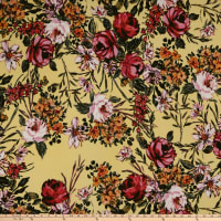 Liverpool Double Knit Floral Garden Pink/Yellow