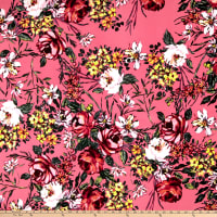 Liverpool Double Knit Floral Garden Pink/Blush