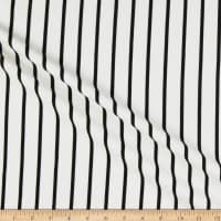 Liverpool Double Knit Vertical Stripe Ivory