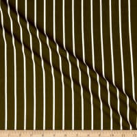 Fabric Merchants Liverpool Double Knit Vertical Stripe Olive