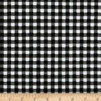 Liverpool Double Knit Gingham Black