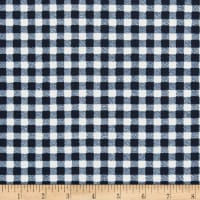 Liverpool Double Knit Gingham Navy