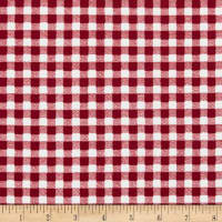 Liverpool Double Knit Gingham Red