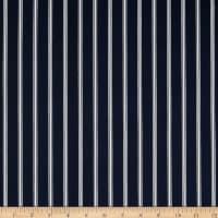Techno Scuba Knit Vertical Stripe Navy