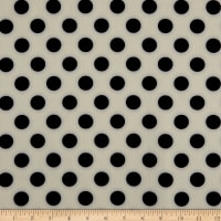 Techno Scuba Knit Medium Polka Dot Ivory/Black