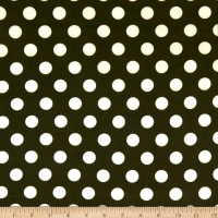 Techno Scuba Knit Medium Polka Dot Olive/Ivory