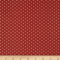 Techno Scuba Knit Small Polka Dot Burgundy