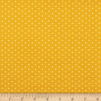 Techno Scuba Knit Small Polka Dot Gold