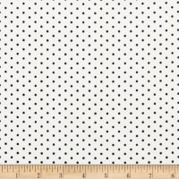 Techno Scuba Knit Small Polka Dot Ivory
