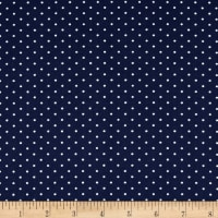 Techno Scuba Knit Small Polka Dot Navy