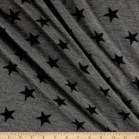 California Stretch French Terry Stars Heather Grey