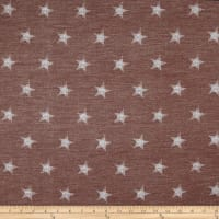 California Stretch French Terry Stars Mocha