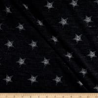California Stretch French Terry Stars Navy