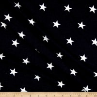 California Stretch French Terry Stars Navy/White