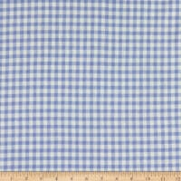 California Stretch French Terry Gingham Sky Blue