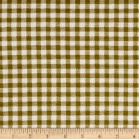 California Stretch French Terry Gingham Olive