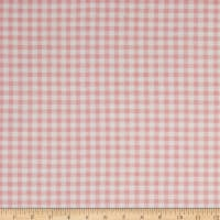California Stretch French Terry Gingham Light Pink