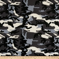 California Stretch French Terry Camouflage Grey