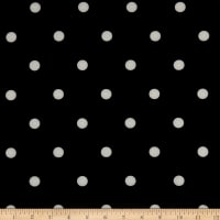 California Stretch French Terry Polka Dot Black/White