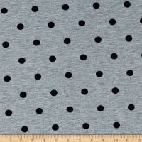 California Stretch French Terry Polka Dot Grey/Black