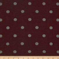 California Stretch French Terry Polka Dot Mauve/Grey