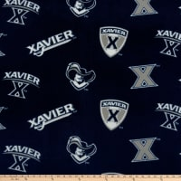Collegiate Fleece Xavier Tossed Logo Blue/Grey