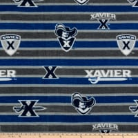 Collegiate Fleece Xavier Polo Stripe Blue/Grey